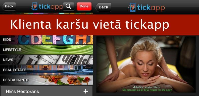 TickApp - aizvieto savas klientu kartes ar viedtālruņa aplikāciju