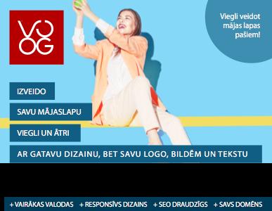 Izveido savu mājas lapu ar Voog