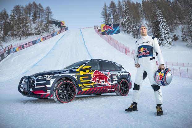 Matiass Ekstrems ar 370 kW jaudīgo Audi e-tron