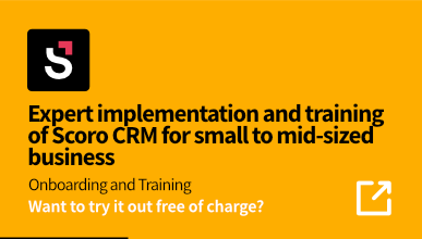 Scoro CRM implementation and training